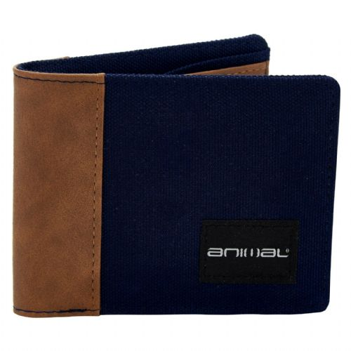 ANIMAL MENS WALLET.NEW REUNION NAVY BIFOLD MONEY NOTE CREDIT CARD COIN PURSE S20